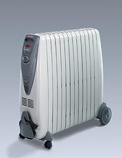 DeLonghi G011225R Radiador de Aceite, 2500 W, Acero Inoxidable, plástico, Gris