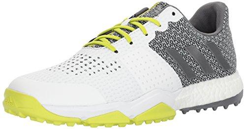 adidas Men's Adipower S Boost 3 Golf Shoe, White/Silver/Semi Solar Yellow, 9.5 M US (Solar Boost)