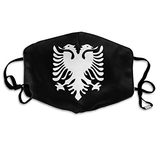 Albanian Flag Mouth Mask,Anti Dust Face Mask,Washable Reusable Mouth Cover Masks White