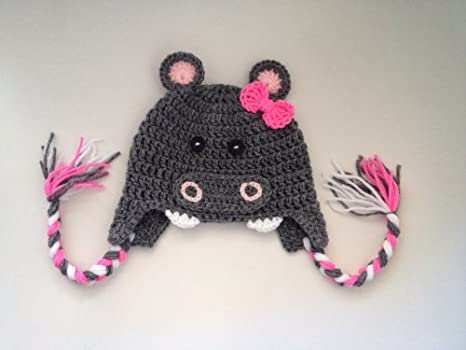 Amazon Crochet Hippo Girl Warm Beanie Hat Other Products Clothing