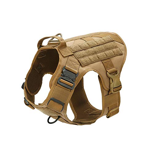 Tactical Dog Vest with Handle Molle Service K9 Harness