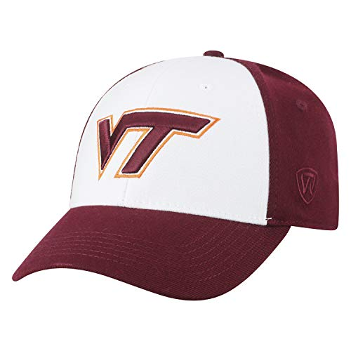(Top of the World NCAA-Premium Collection Two Tone-One-Fit-Memory Fit-Hat Cap- Virginia Tech Hokies)