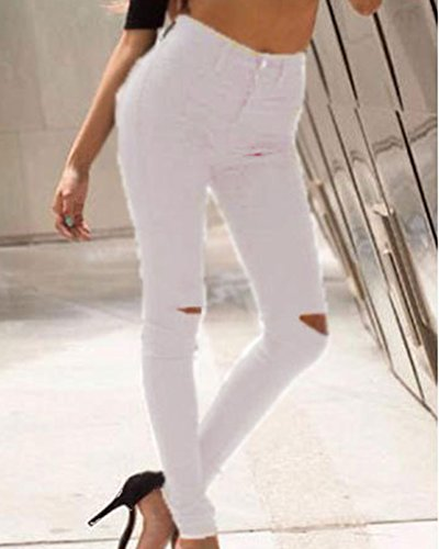 Mengmiao Denim Pantalon Up Taille Crayon Femmes Jeans Collants Push Stretch Blanc Leggings Pantalons Haute Skinny PnraPq