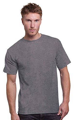 Union Made: A Division of Bayside Adult Union Made Pocket Tee 3015 - Dark Ash_S (3015 Bayside Union)