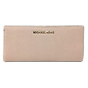 Michael Kors Jet Set Travel Flat Slim Bifold Saffiano Leather Wallet
