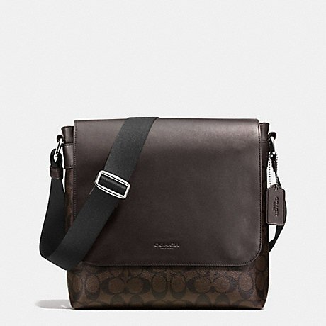 COACH F54771 MA/BR Mens Leather Messenger Bag