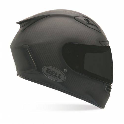 Bell Solid Carbon Star Street Racing Motorcycle Helmet - Matte Black / Large