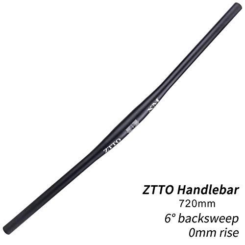 - DEH Professional MTB Bicycle Handlebar Black Handlebar Aluminum Alloy Flat Bar - Black(720mm)
