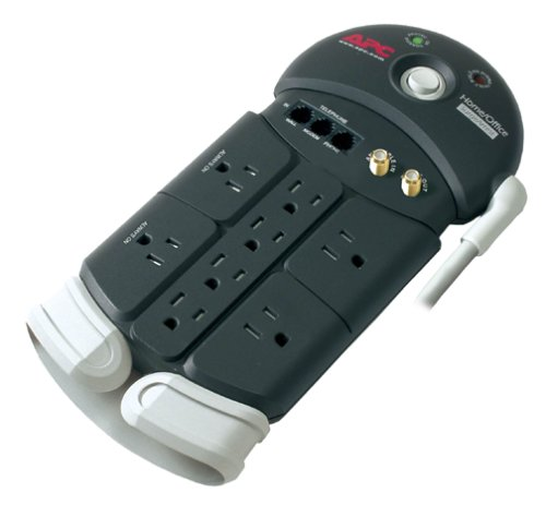 Connector Coaxial Surge Protector F (APC PH8VT3 8-outlet SurgeArrest with Tel2/Splitter and Coax Protection (Discontinued by Manufacturer))