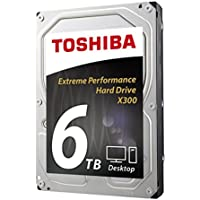 Toshiba X300 6TB Desktop 3.5 Inch SATA 6Gb/s 7200rpm Internal Hard Drive