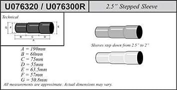 Jetex Universal Exhaust Stepped Sleeve 50.8-57-63.5mm Mild Steel U076320