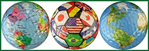 World Collection Globe / International Flags / Earth Golf Ball Gift Set