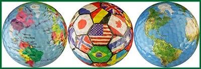 World Collection Globe / International Flags / Earth Golf Ball Gift Set