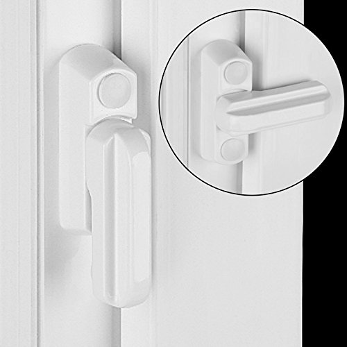 ventana y puerta bloqueador proporciona seguridad adicional para tu puertas y windows Ventana y puerta de bloqueo de seguridad blanco, 2/Pack homesecure Sash Jammer por xfort