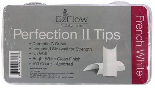 EZ Flow Perfect Ii Tips, French White, 100 ()