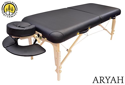 DevLon NorthWest Portable Massage Table Black Aryah Model Reiki Shiatsu