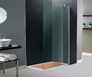 Parete laterale fissa per doccia,90 cm,in vetro trasparente