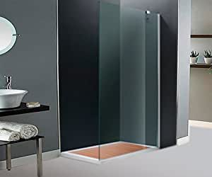 Lateral fijo ducha. 90cm. Cristal transparente.: Amazon.es: Hogar