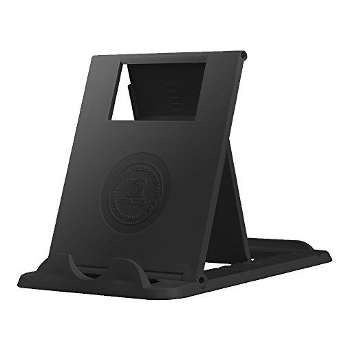 Fintie Universal Tablet Cell Phone Stand - [Foldable] Multi Angle Portable Desktop Holder for 4-10 Smartphones and Tablets, iPad Pro 10.5, iPad 9.7, Galaxy Tab, iPhone X, Samsung S8 and More, Black