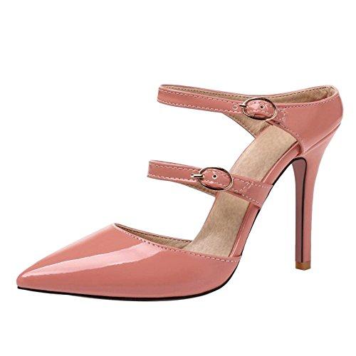 Talons Taoffen Aiguille Femmes Haut Sandales Mules Pink xrqrRtXTw
