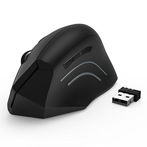 Jelly Comb Ergonomic Mouse, 2.4GHz Optical Wireless Vertical...