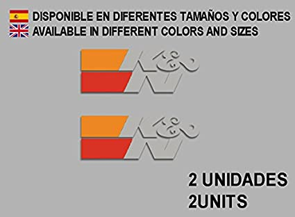 Ecoshirt 7Z-SR9Q-MU12 K/&N F88 Autocollant en Vinyle pour Voiture Noir