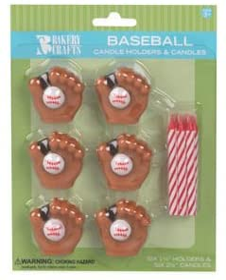Amazon.com: Oasis Fuente titular de béisbol de cera con vela ...