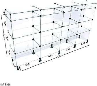 Balcão de Atendimento Modulado em Vidro com Porta