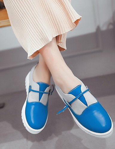 Blanco exterior negro us5 Comfort Zq plataforma Uk6 Uk3 Azul Mujer Eu35 us8 De Rosa Cn34 Cn39 pu plataforma mocasines Blue Zapatos Eu39 Pink qxxFzHw7