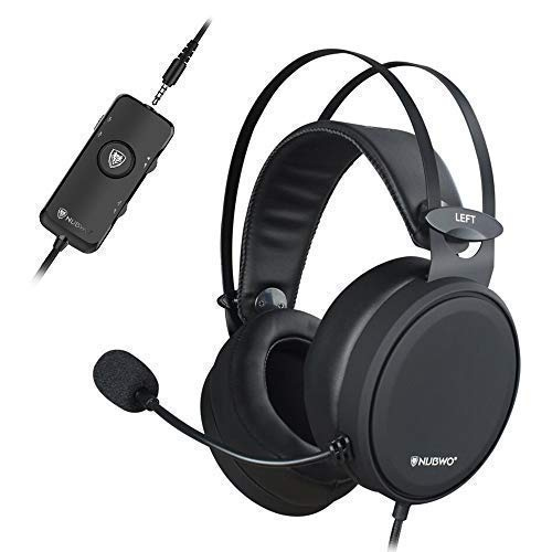 NUBWO PS4 Xbox one Headset 7.1 Surround Sound PC USB Gaming Headset with Noise Reduction Mic, Over Ear Headphones with Game&Chat Volume Controls for PC/Playstation 4/Xbox 1 by NUBWO