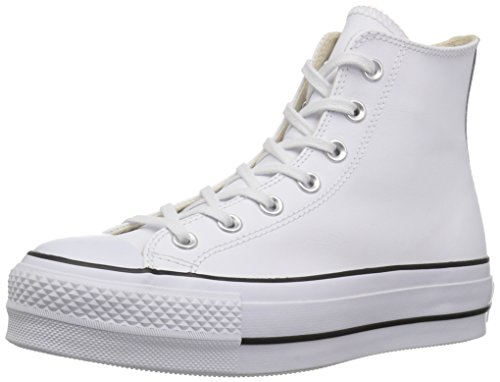 Clean a Bianco Alto Donna 102 Ctas Optical Lift Hi Collo Sneaker Black White Converse White gwq0AF