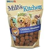 Milos Kitchen Chicken Meatballs Dog Treat, 30 oz