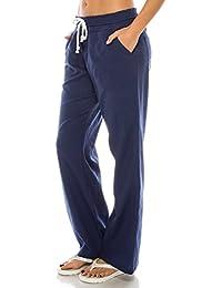 Women's Beachside Soft Palazzo Style Linen Pants