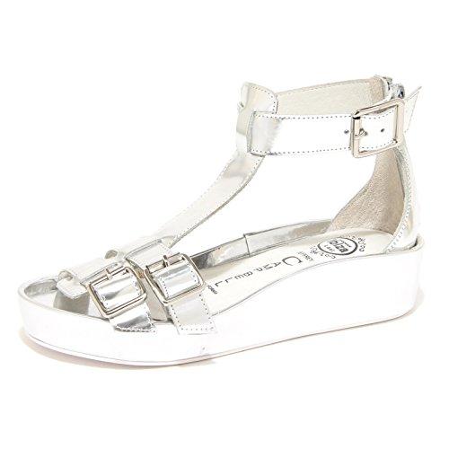 8845N sandalo zeppa JEFFREY CAMPBELL EUROPA argento sandali donna sandals women Argento