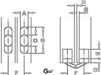 1 St/ück Einbohrscharnier f/ür Holzdicke 19-26 mm SOSS 12,8 x 44,3 mm Gedotec Einbohrband M/öbel-Scharnier verdeckt T/ürscharnier unsichtbar Messing poliert T/ürband mit /Öffnungswinkel 180/°