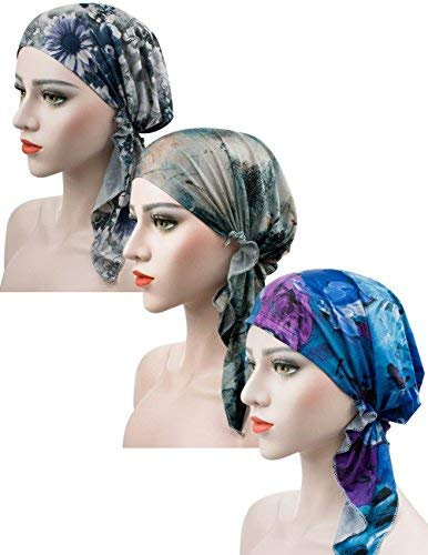 Luccy K Cancer Scarf Adjustable Lined Pretied for Women with Chemo Hair Loss