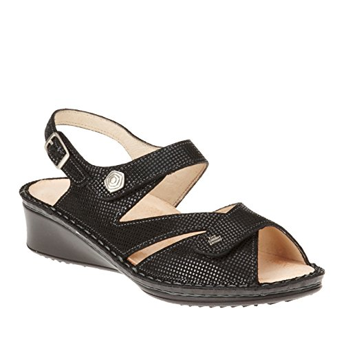 Finn Comfort Womens Santorin Soft Black Points