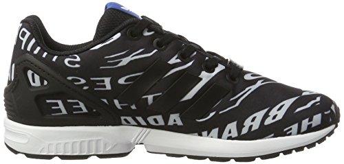 adidas Unisex-Kinder ZX Flux Sneaker Low Hals Schwarz (Core Black/core Black/ftwr White)