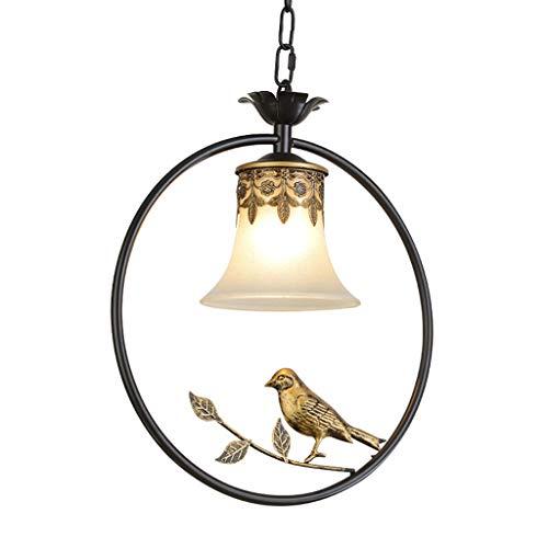 HARDY-YI Lustre rétro américain de création, Couloir à Oiseaux Arrondi, Porche de Balcon, Foyer Simple, Del [Classe énergétique A + +] -175 Lampe Suspension