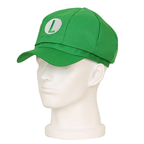 CG Costume Unisex Super Mario Bros Baseball Hat Cap Luigi Cosplay Green - Yellow Toad Mario Costume