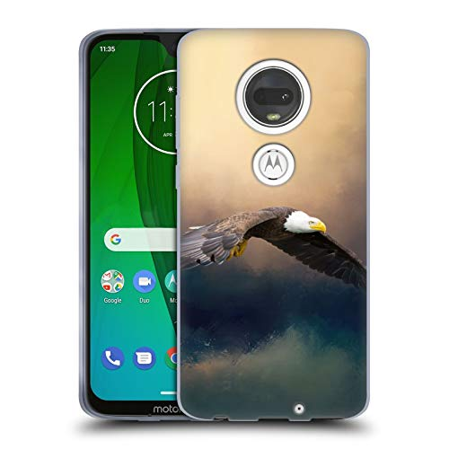 (Official Simone Gatterwe American Eagle Animals Soft Gel Case for Motorola Moto G7)