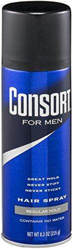Spray Regular Formula (Consort For Men Hair Spray Regular Hold 8.3 oz (Pack of 12))
