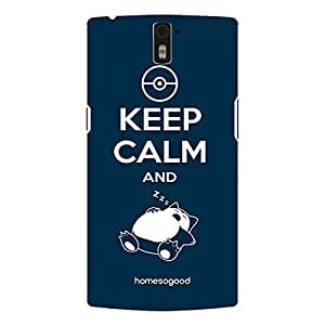 HomeSoGood Keep Calm And Snorlax Blue 3D Mobile Case For OnePlus One (Back Cover)