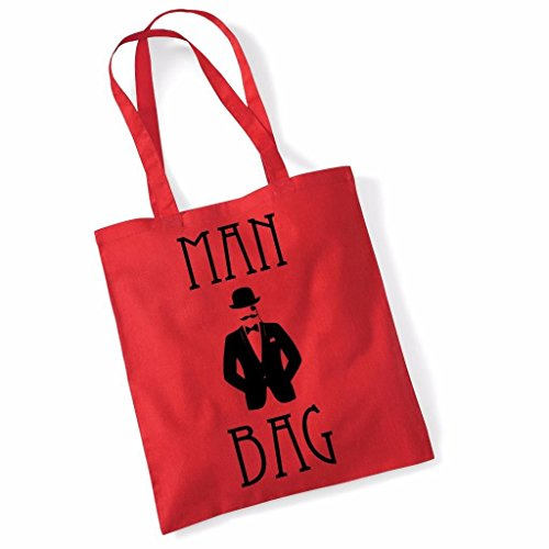 Print Shopper 100 Canvas Women For Bags Red Slogan Tote Shoulder Man Cotton Bag Bag q0n1xYS