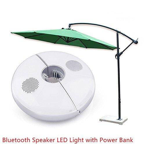 Patio Umbrella Light Bluetooth Speaker with RGB Colors Ch...
