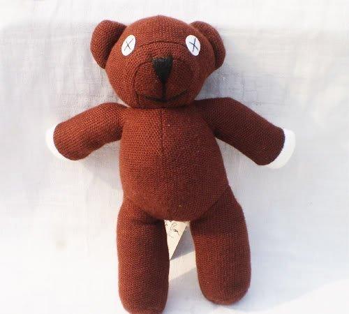 Teddy Bean Mr Plush Bear (Mr Bean Teddy Bear Soft Stuffed Plush Toy Doll Kids Gift by handstiched)