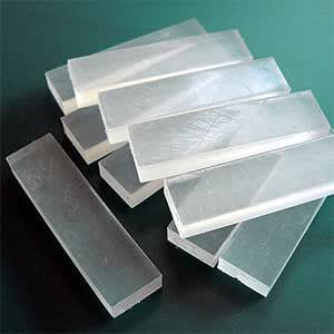 Reusable Clay Mold Making Oyumaru. Only Use Hot Water. Perfect for Short Clay Project (Single Color) - 1pkg (6pc) (Clear White)