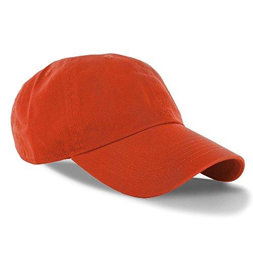 Orange_(US Seller)Curved Bill Plain Baseball Cap Visor Hat - Vs Visor Hat Running