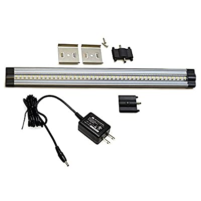 Lightkiwi Dimmable LED Under Cabinet Lighting 1 Panel Kit, 12 Inches Each, Warm White (3000K), 3 Watt, 24VDC, On/Off Switch & All Accessories Included, Low Profile, Sturdy Aluminum Body, UL Listed