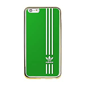 Blazing Image Luxury Adidas Cover Case TPU Golden Border Series for Iphone 6 Plus/6s Plus (5.5 inch)